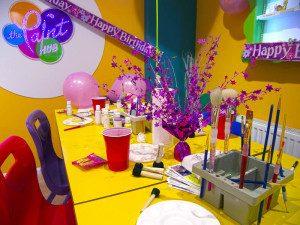 Enjoy a party at the Paint Hub Dawlish