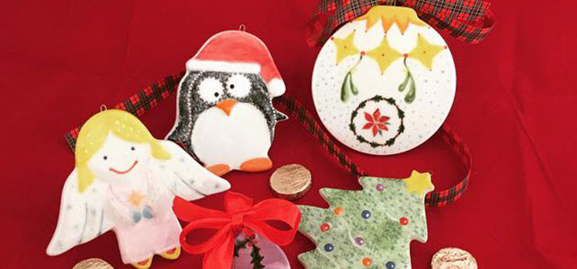 Christmas Pottery Painting